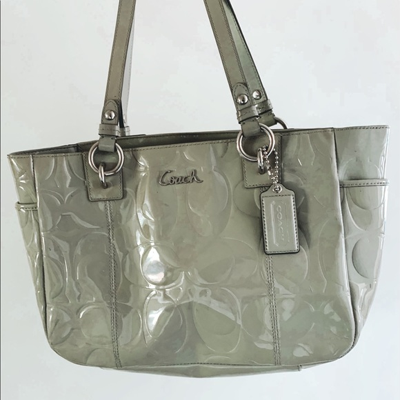 Coach Handbags - COACH PATENT LEATHER GREY
